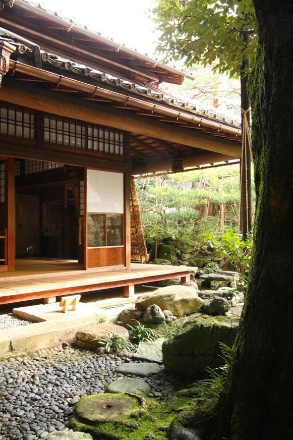 Epingle Par Ptits Biscuits Sur Decor Paysage Maison Traditionnelle Japonaise Architecture Japonaise Habitat Japonais