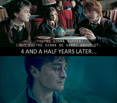 Ron and his unintentional foreshadowing. WHOA!