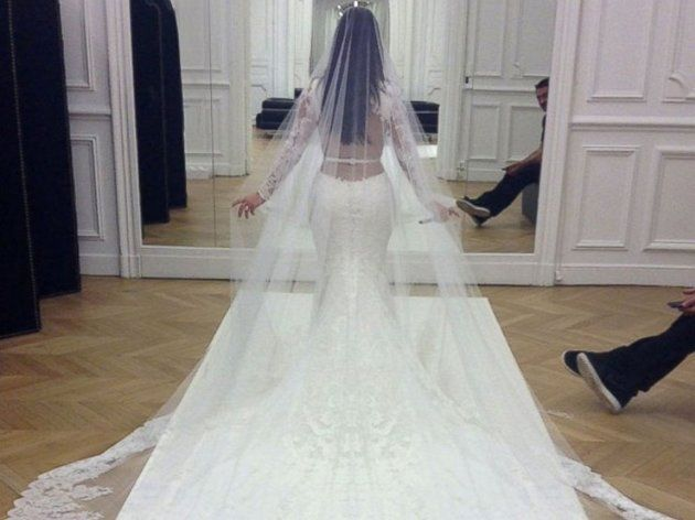 Credit: E! News... Kim Kardashian... the back of her dress and her make up were flawless.