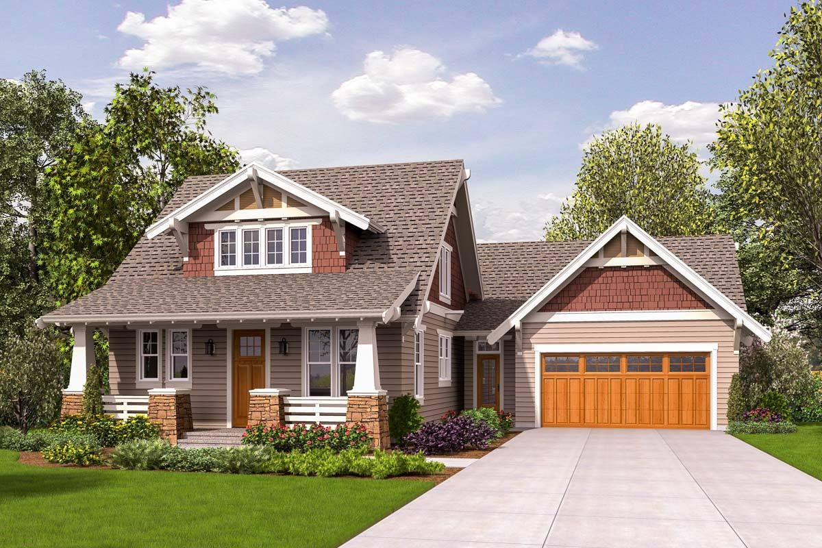 Plan 69655AM: Craftsman Bungalow with Loft | Cottage style ...