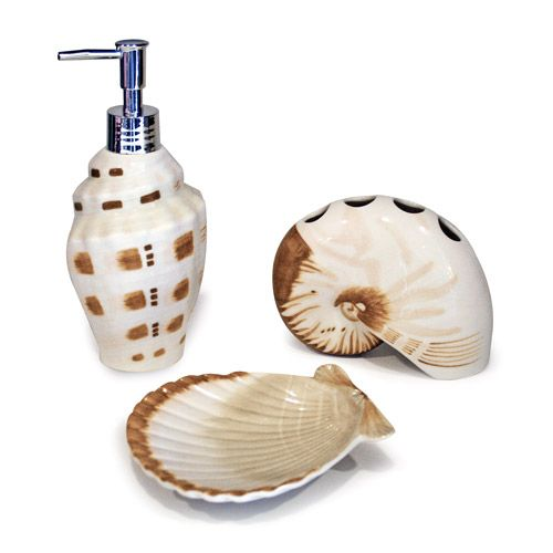 Better Homes And Garden Bathroom Accessories. Better Homes And Gardens Shells 3 Piece Bath Accessories Set
