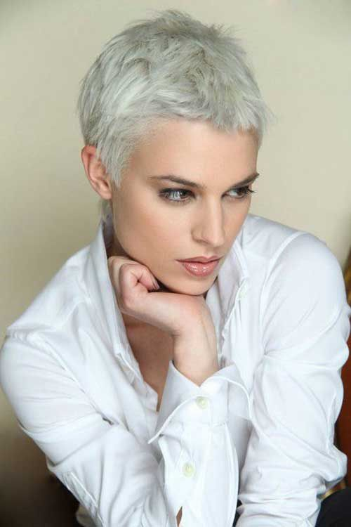 14.Pixie Haircut for Gray Hairs | Hairstyles | Pinterest | Pixie ...