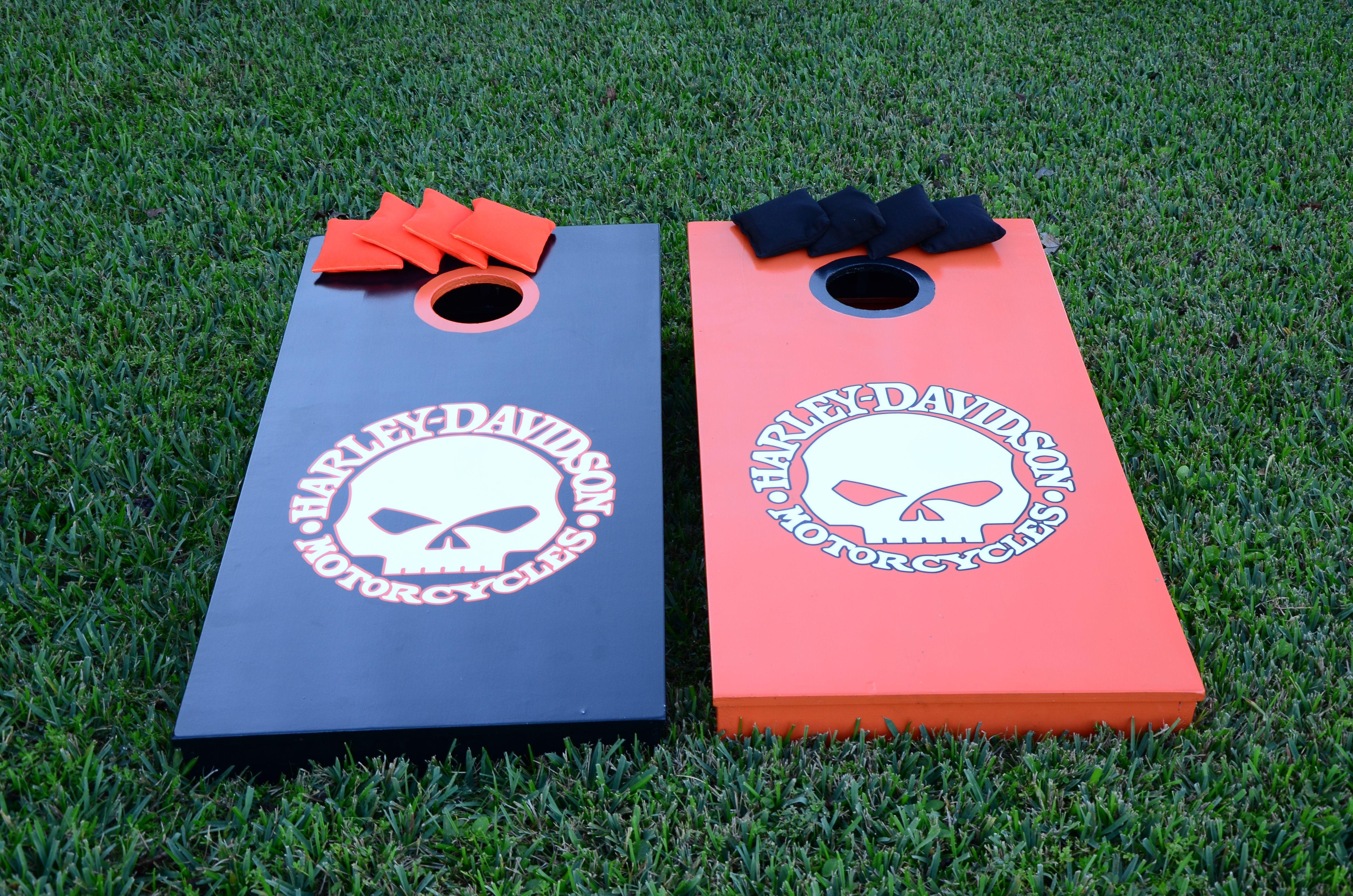 Cornhole Boards Painted Custom Graphics Bean Bag Toss Quality Regulation Size Agreeable To Taste Cornhole Bag Toss Outdoor Sports