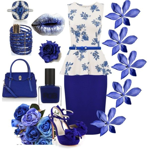 """Blue and White"" by mdcampbell on Polyvore"