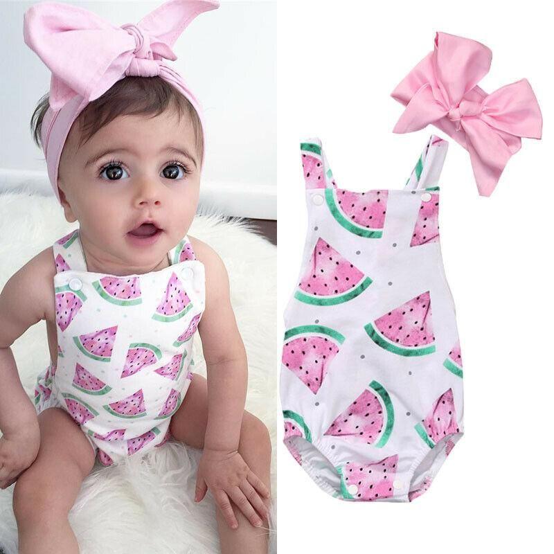 2017 Summer Newborn Baby Girls Bodysuit Romper Jumpsuit Outfits Sunsuit Clothes
