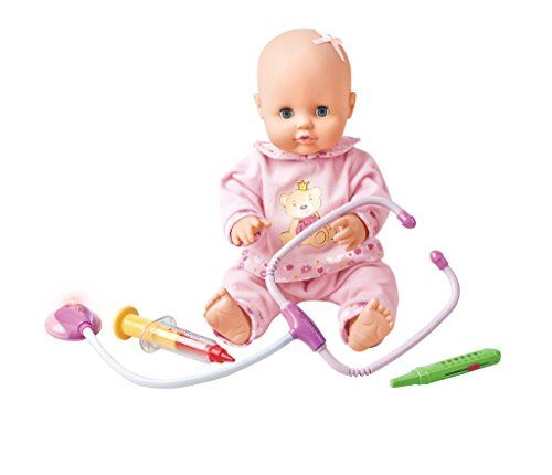 Baby Doll 16 Lifelike Newborn Baby Drinkpee Sick Girl Vinyl Doll Nursing Toys Pretend Doctor Game Gifts Want To Baby Drinks Baby Dolls Christmas Gifts Toys