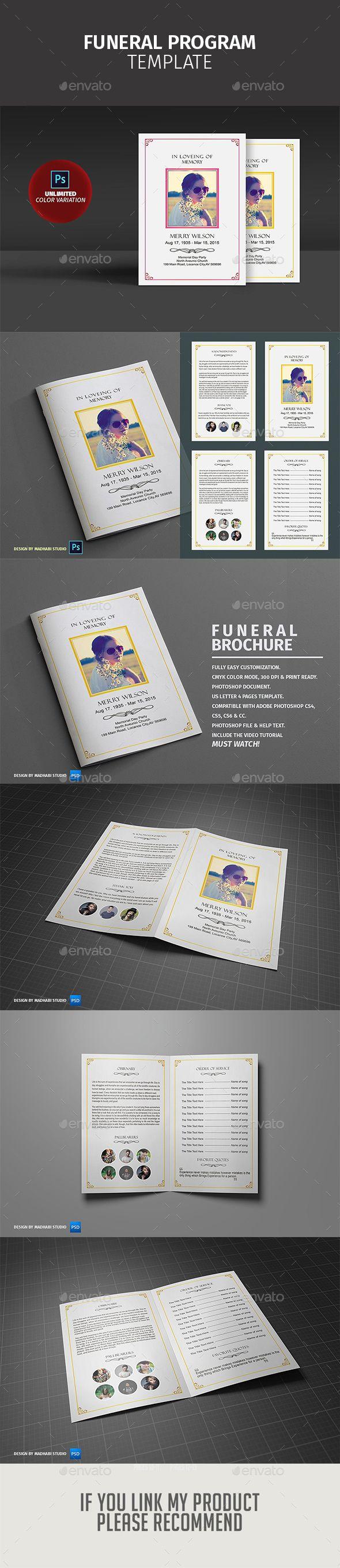 Funeral Program Template V Informational Brochures - Informational brochure template