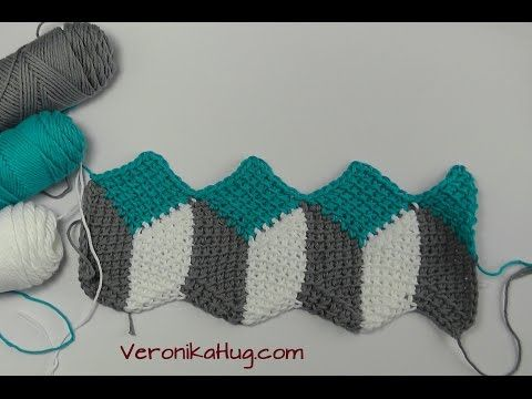 How to crochet 3D blanket afghan or rug free pattern tutorial ...