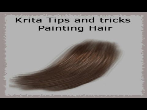 Painting Hair In Krita Krita Gimp Tutorial Learning Graphic Design