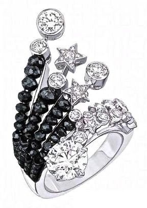 Chanel Series of Fine Jewelry 1932 Collection. Onyx & Diamond Ring