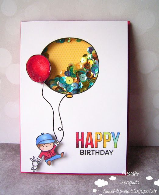 INKognito ~ Cards by Natalie: Ballonkarte / Balloon Card #mamaelephant #sevenhillscraft