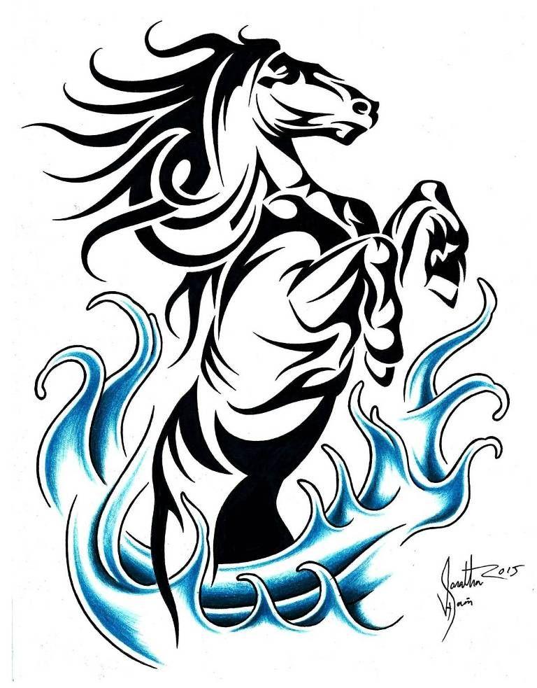 Pin By Vadzim Prakopcyk On Tattoo Pinterest Tribal Horse Tattoo