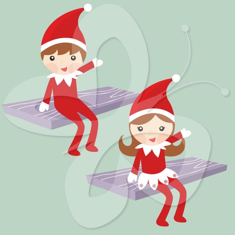 Christmas Elf On The Shelf Clipart.The Elf On The Shelf Clip Art Creative Clipart Collection