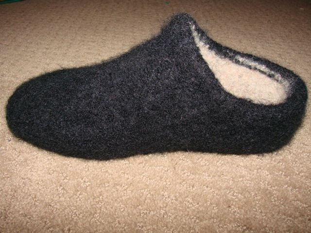 Felted Clog Slippers on the Brother Bulky | Clogs, Felting and Free ...