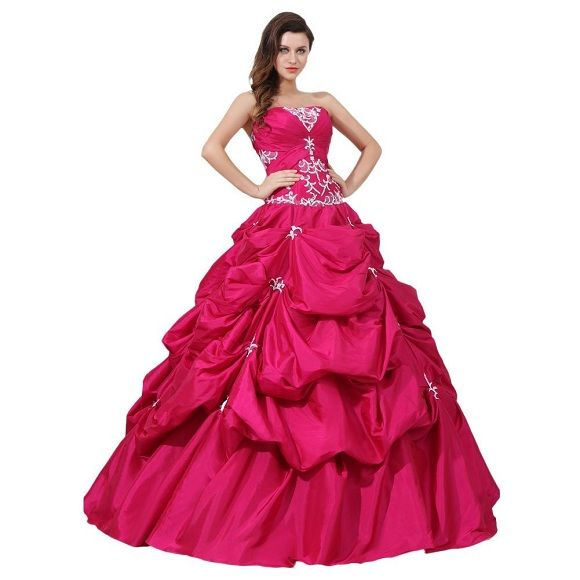 Fuchsia plus size 22, 24 ,26 ball gowns, quinceanera dresses for ...