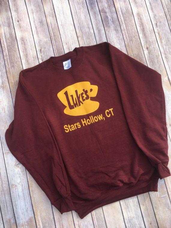 34f2975c3 Luke's Diner Sweatshirt - Gilmore Girls Sweatshirt - Stars Hollow - Lorelai  – Rory - Luke's Diner -