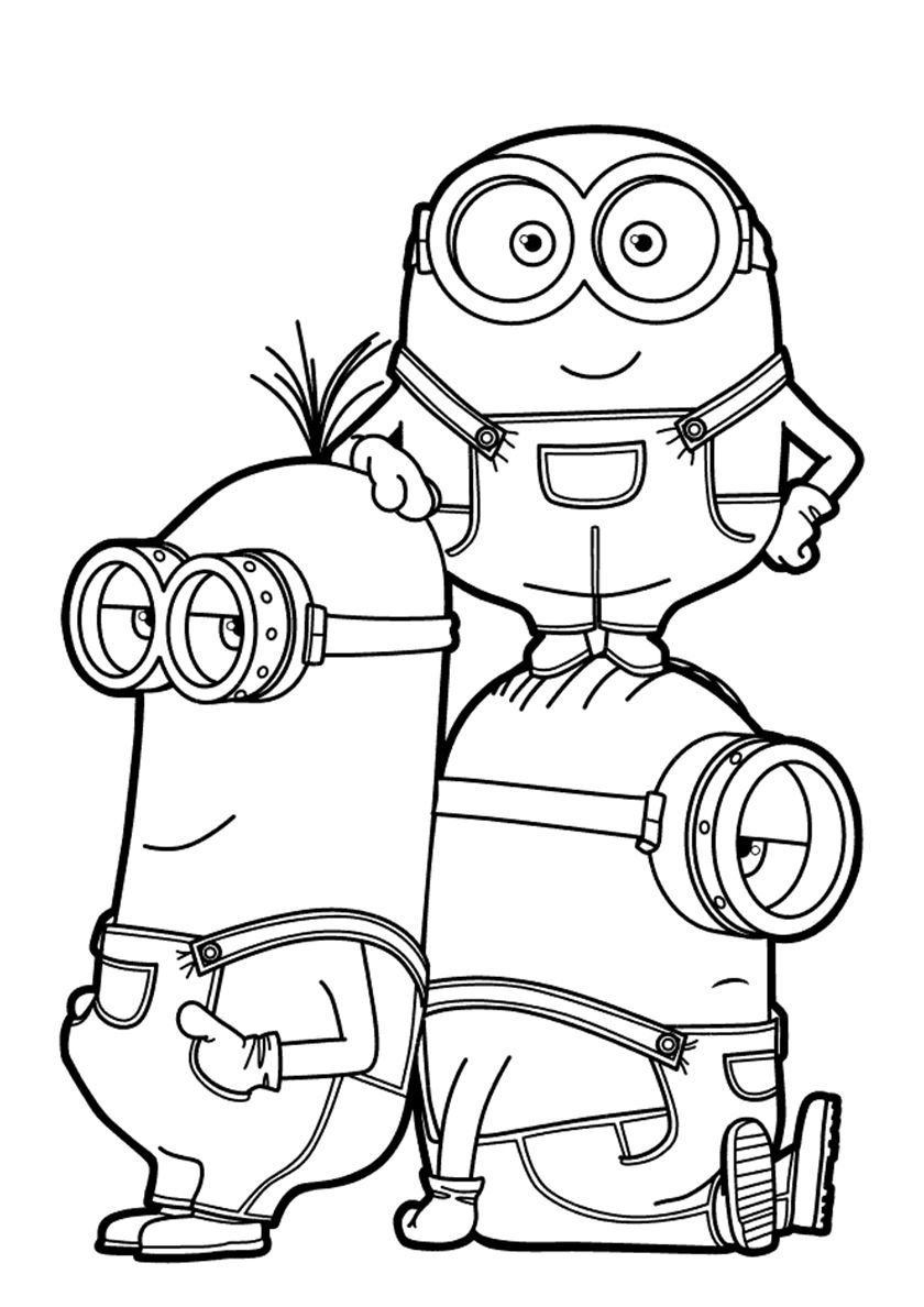 Bob Kevin And Stuart High Quality Free Coloring Page From The Category Minions More Printable En 2020 Minions Dibujos Dibujos Para Colorear Minions Minion Dibujo