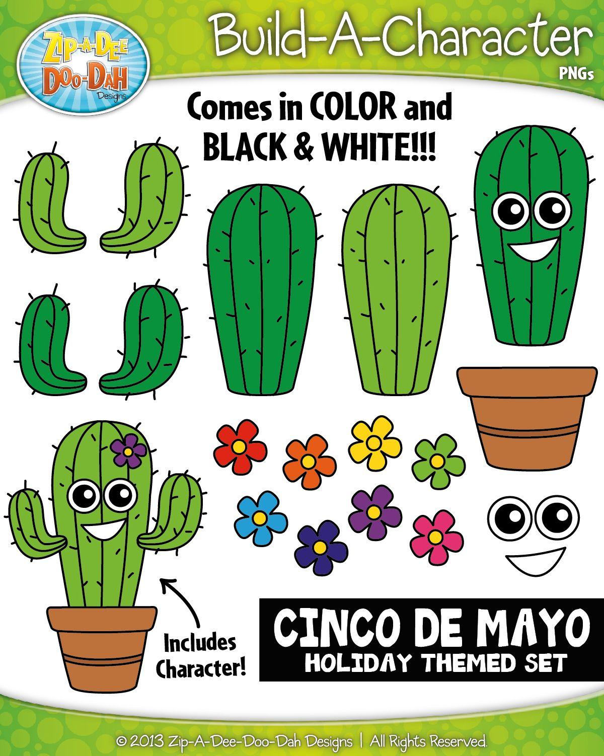 Cinco De Mayo Build A Character Clipart Zip A Dee Doo Dah