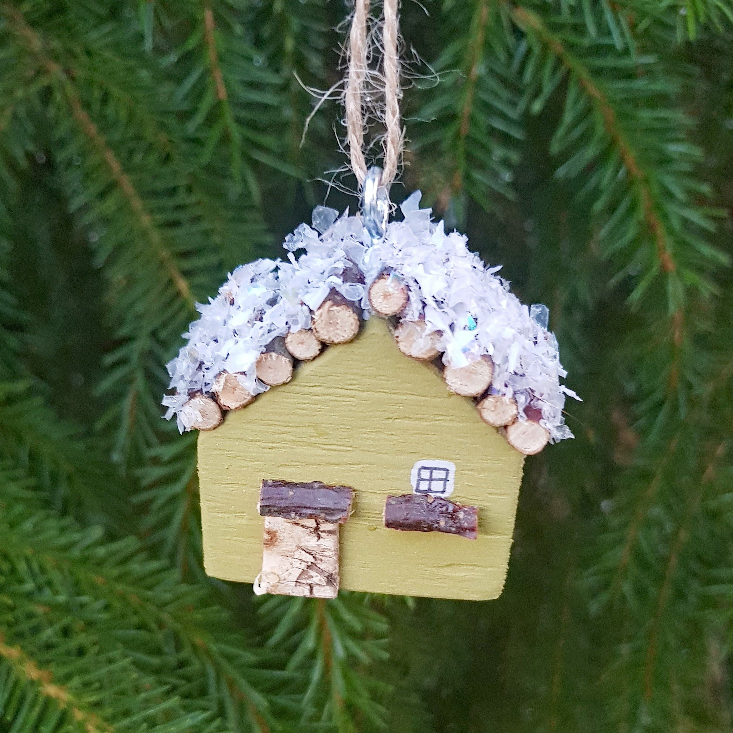 Cabin Ornament Holiday Decor Xmas Decor Miniature Cabin Ornaments Wood Cabin Christmas Decoration Christmas Miniatures Rustic Holiday Decor Cabin Christmas Holiday Decor Rustic Holiday Decor