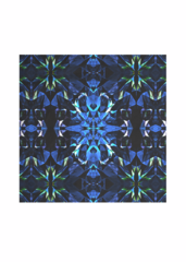 Silk Square Scarf - Blue ice by VIDA VIDA