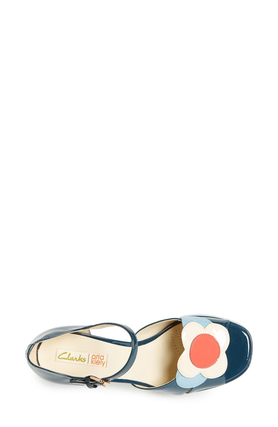 Clarks® x Orla Kiely 'Betty' Patent Leather Platform Sandal (Women)