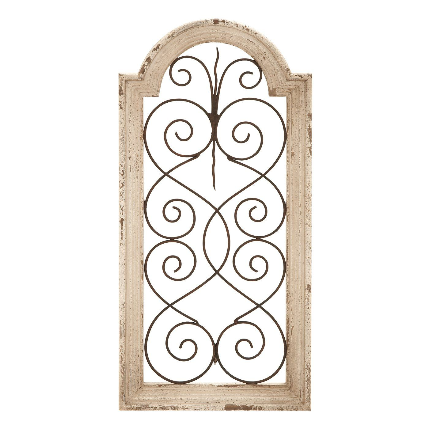 Shop woodland imports simple metal and wood decorative wall