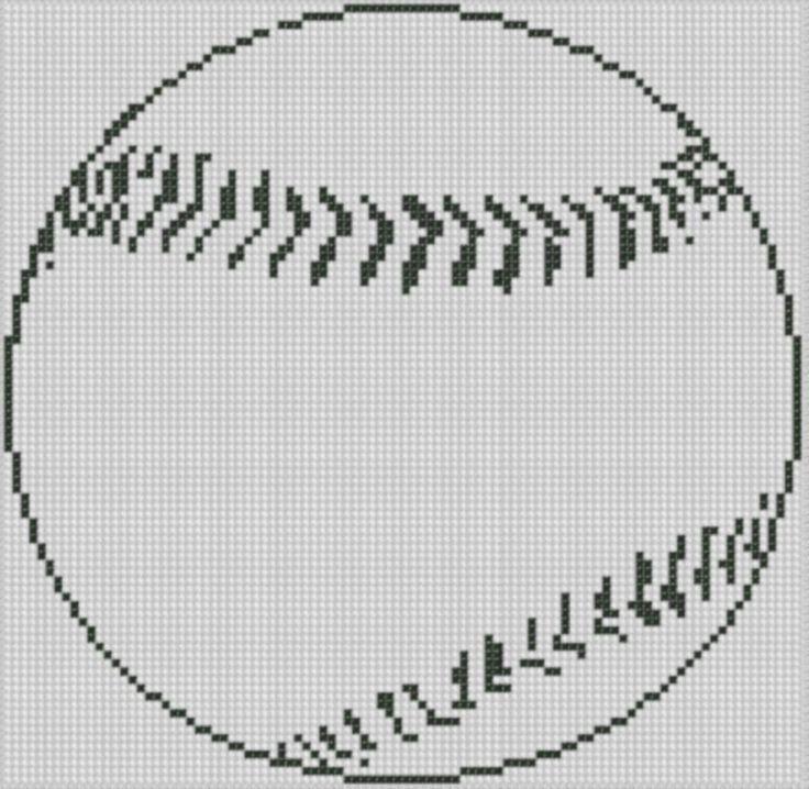 Baseball Cross Stitch Pattern by Motherbeedesigns