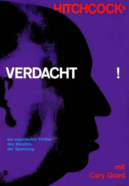 "Fritz Fischer, Poster for ""Verdacht"" by Hitchcock,"