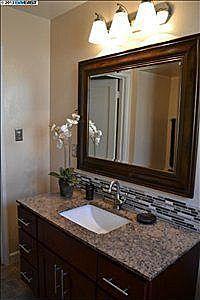 bathroom mirror and backsplash idea - Bathroom Vanity Backsplash Ideas