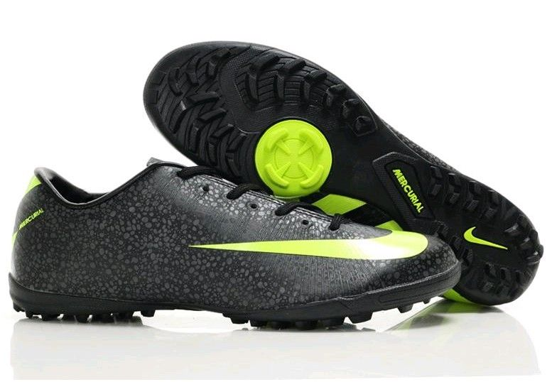 Nike Mercurial Vapor Superfly II TF Astro Turf Mens Soccer Cleats(Black  Volt Dark Shadow