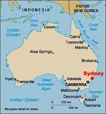Pictures of sydney australia map of sydney australia Places Ive
