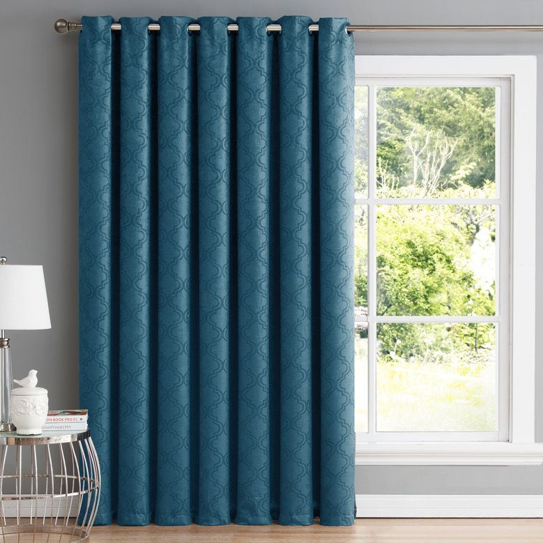 Redmont Patio Door Blackout Thermal Single Curtain Panel