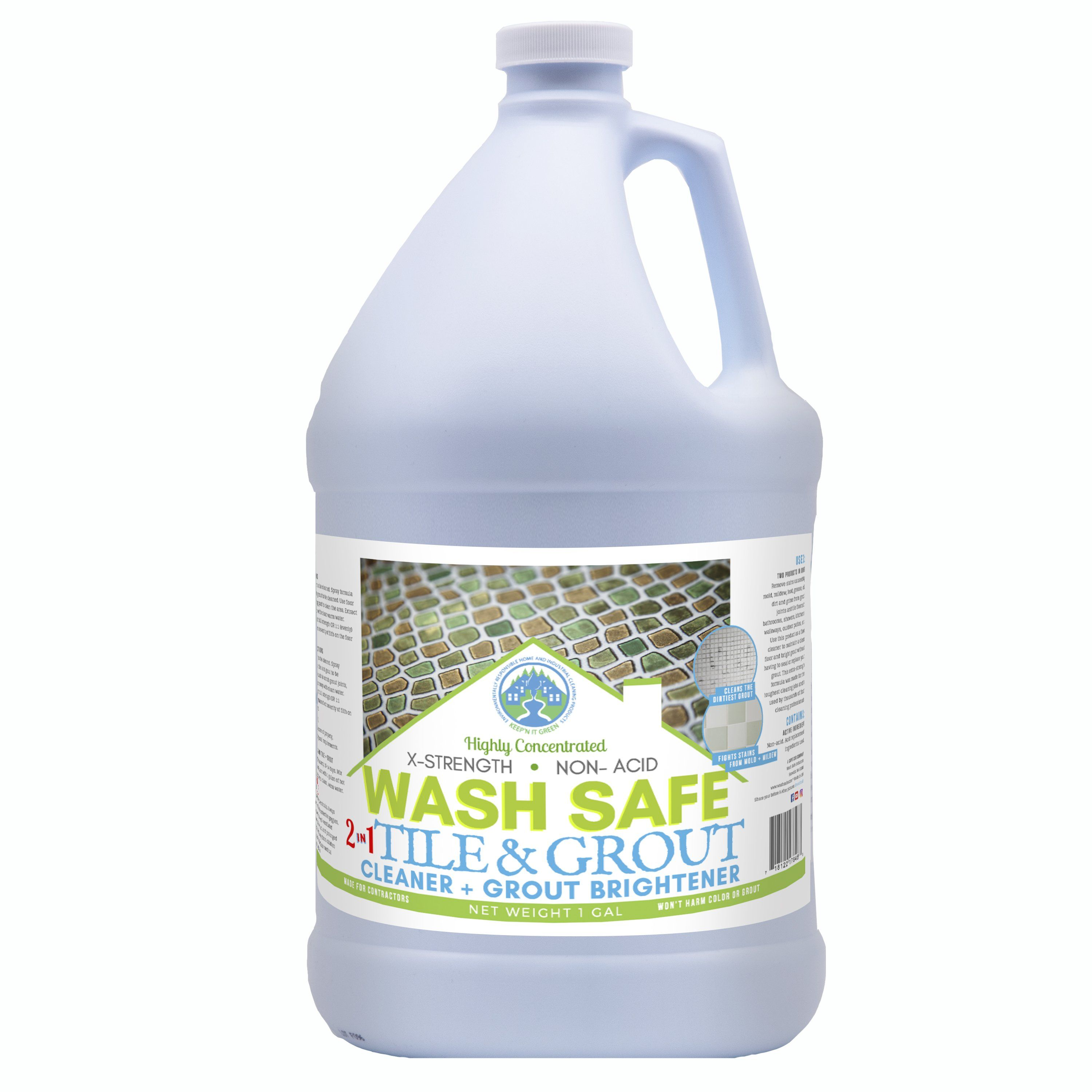 2 In 1 Tile Floor Cleaner Grout Whitener Products In 2019 Grout Cleaning Tile Floors Clean Tile Grout