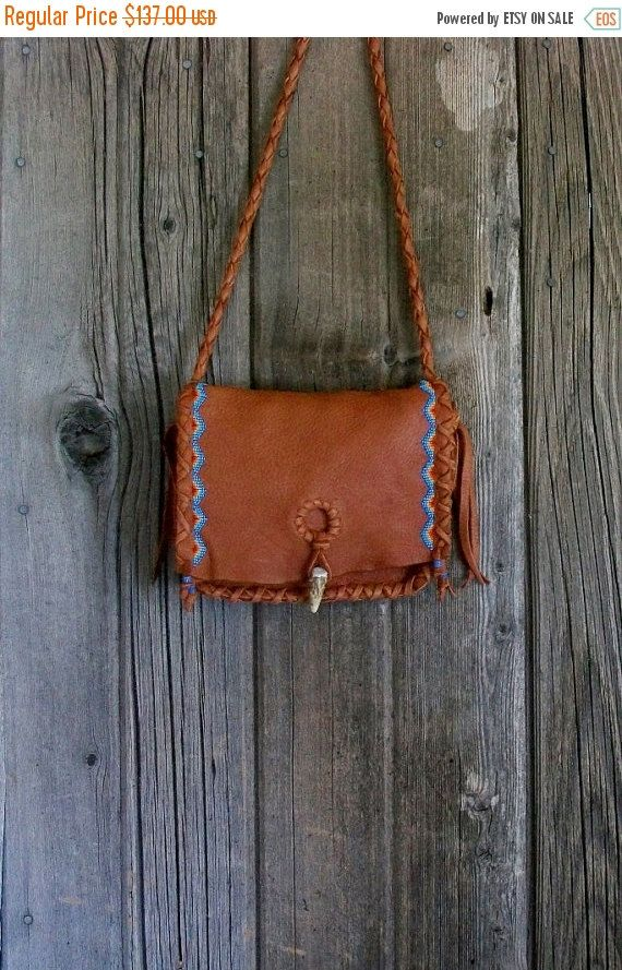 9fbcbc508d ON SALE Beaded leather handbag rust leather by thunderrose
