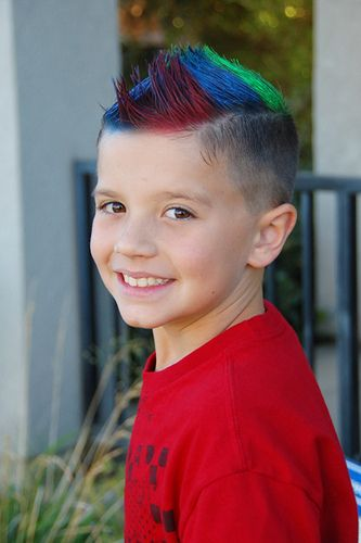 Colorful Wacky Hair Crazy Hair Boys Kids Hair Color