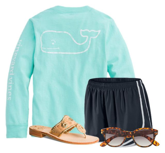 """""""Can't wait to get some more long sleeved shirts"""" by flroasburn on Polyvore featuring NIKE, Jack Rogers and H&M"""