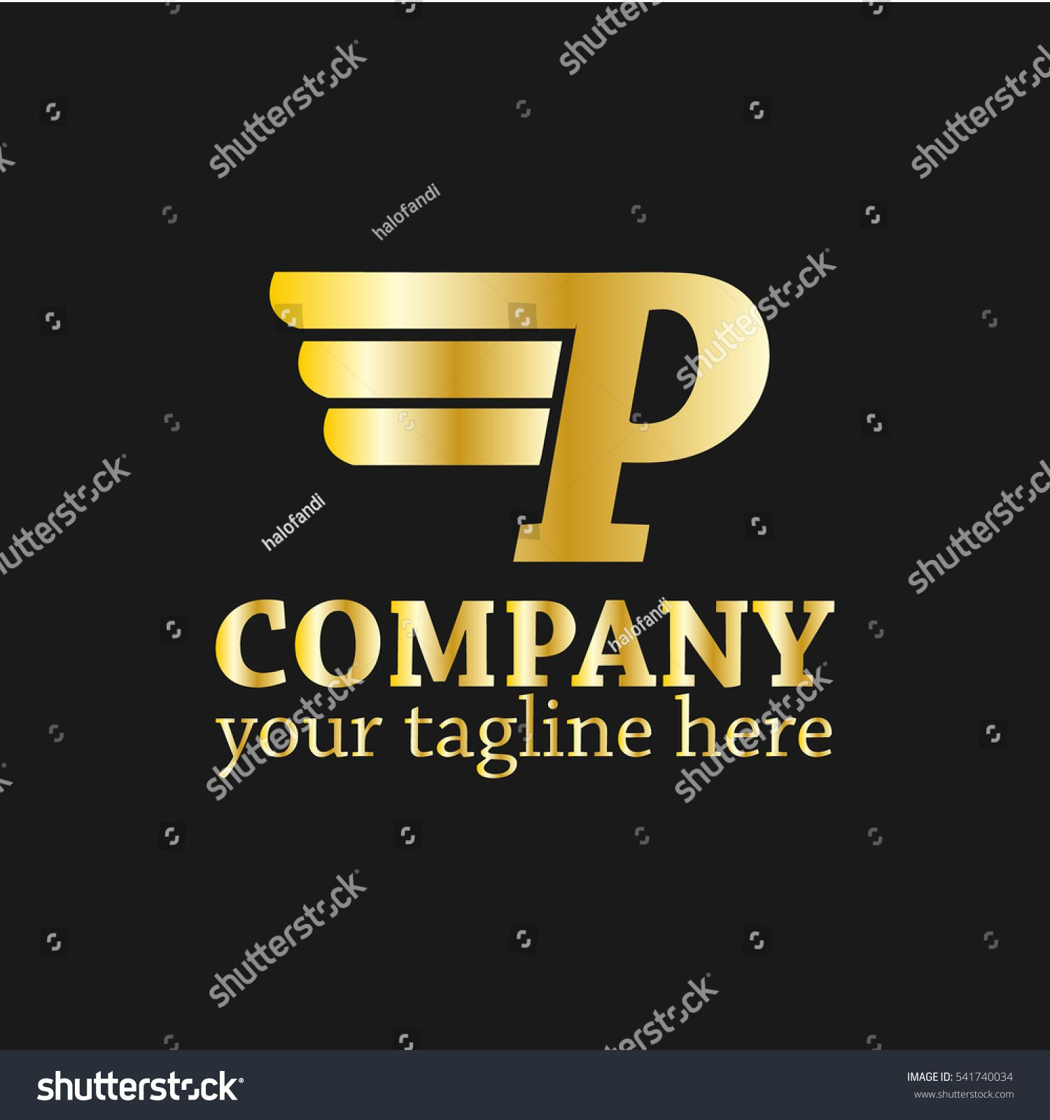 Initial Letter P Logo Vector Wings Stock Vector (Royalty Free) 541740034
