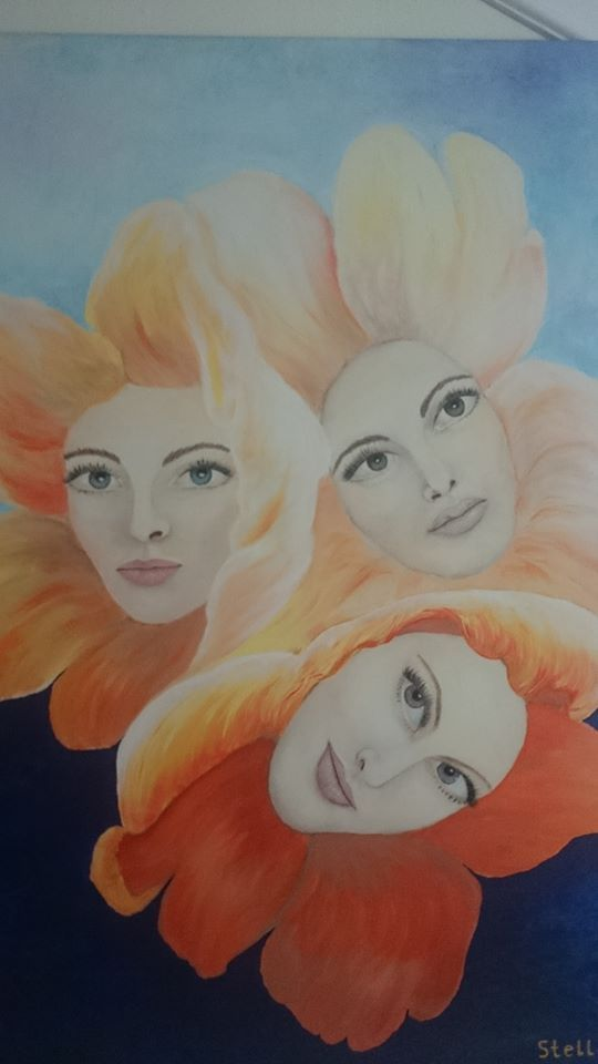 Oil Painting Every woman flower Stella Abek ציור שמן כל אשה פרח סטלה אבק