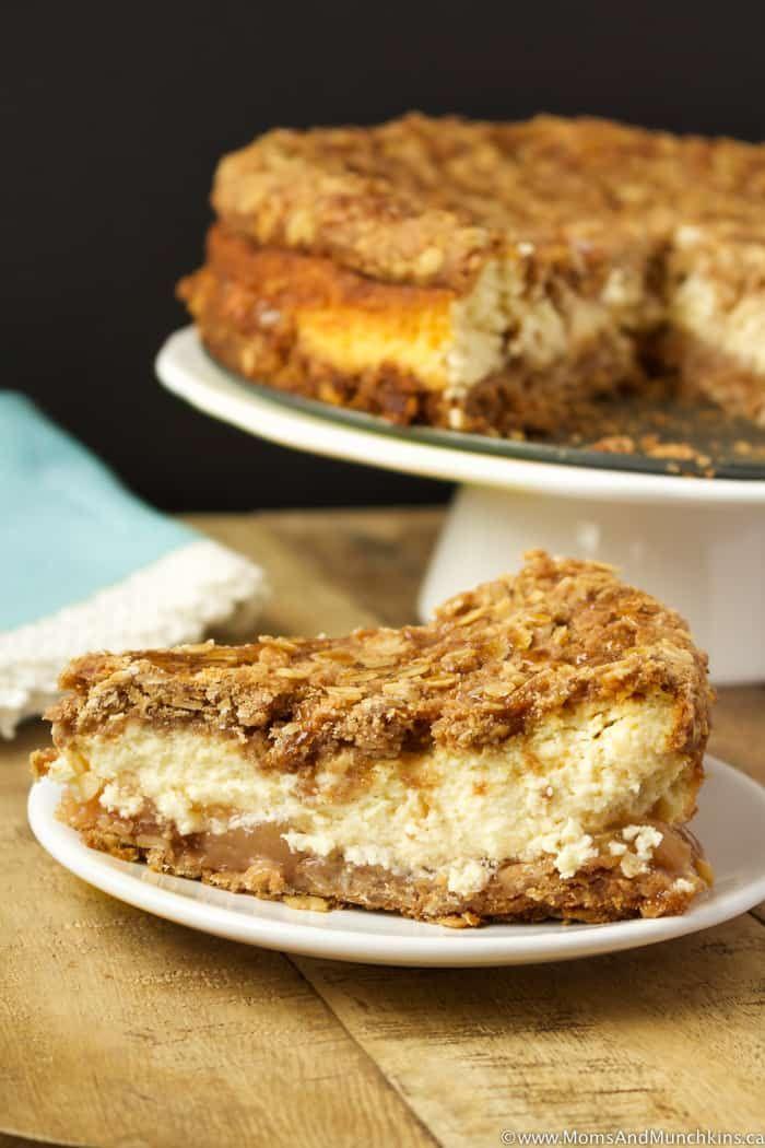 Apple Crisp Cheesecake Recipe - Moms & Munchkins