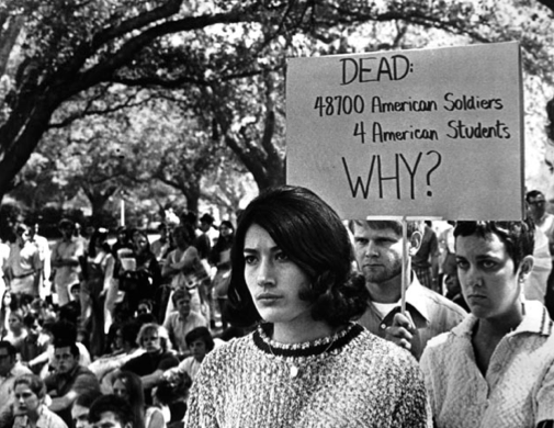 This Poster Is Protesting An Action That Was Carried Out At A Vietnam War Protest That Perfectly Exemplifies The R Vietnam Protests Vietnam War Student Protest