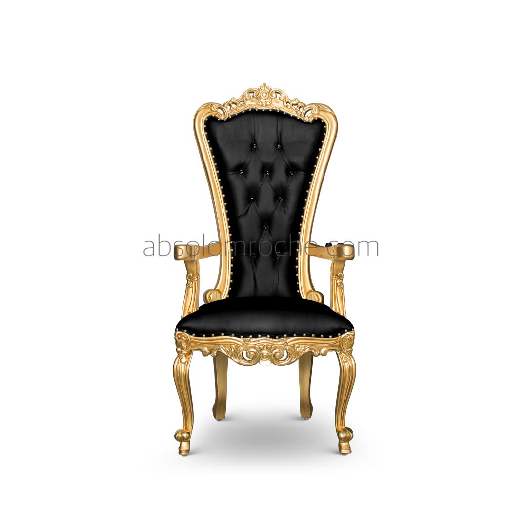 Bonus Deal Absolom Roche Petit Chair Gold Black Baroque Furniture Chair Beautiful Furniture
