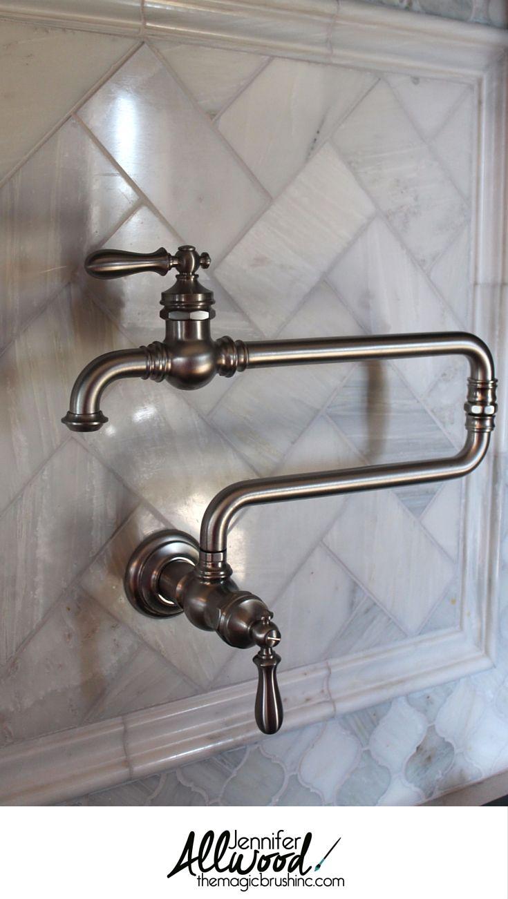 kitchen backsplash | Pinterest | Pot filler faucet, Carrera and Wall ...