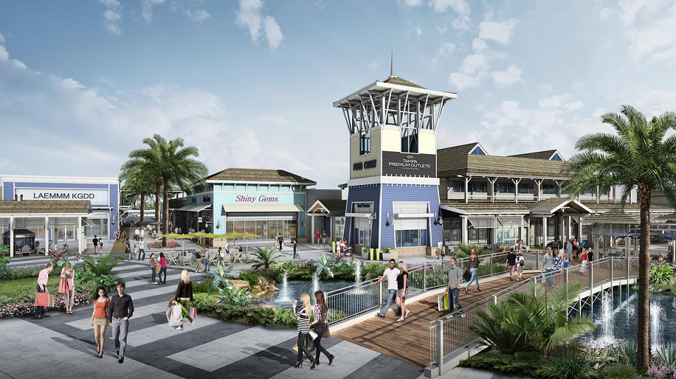 Ground Was Recently Broken For Tampa Premium Outlets The Multimillion Dollar Mall Located At The Junction Of Interstate 75 An Premium Outlets Tampa Tampa Bay