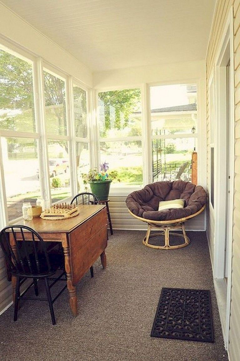 58 Comfy Farmhouse Sunroom Makeover Decor Ideas Sunroom
