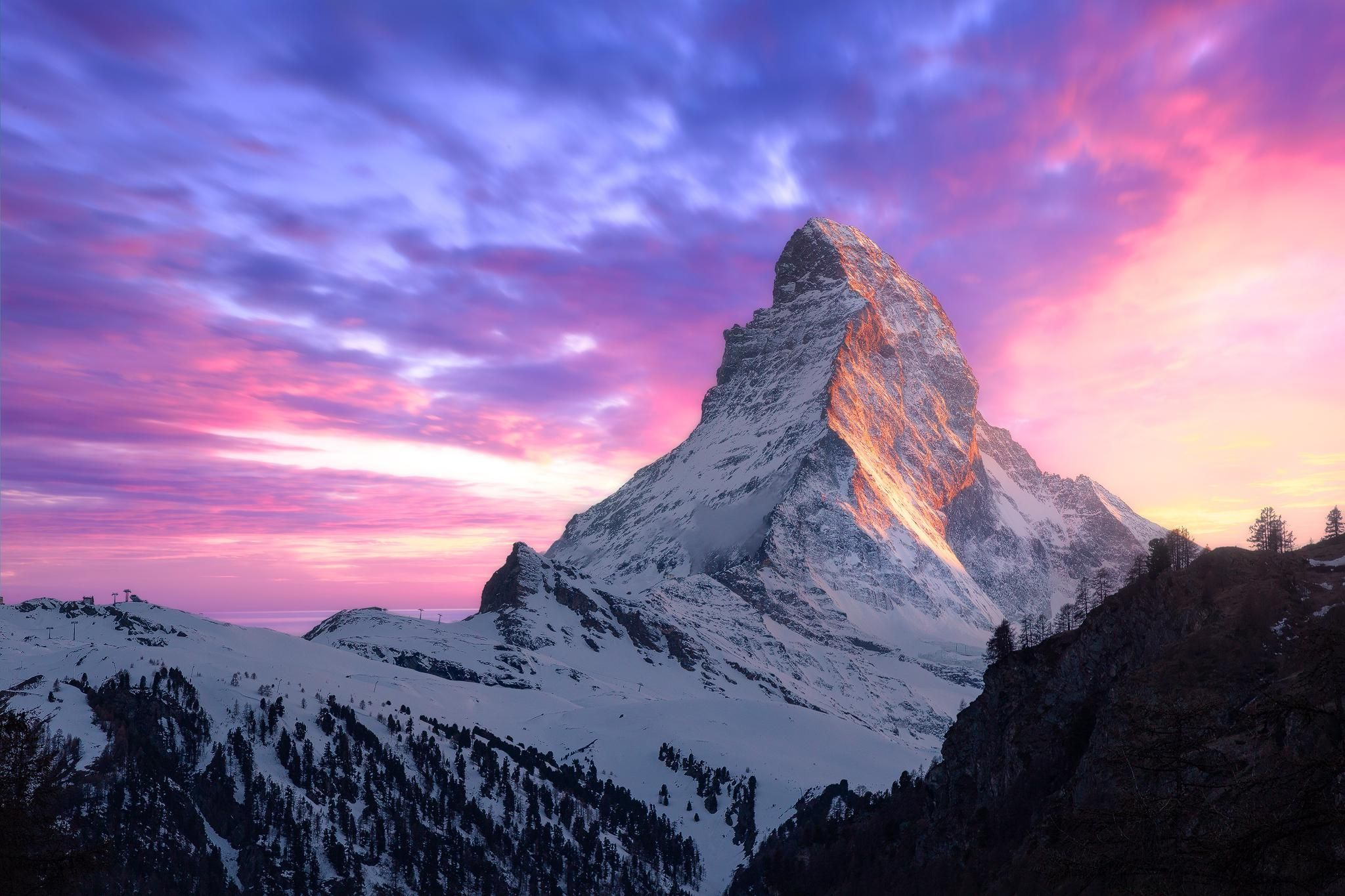 I Like This Mountain Picture Because It Is A Cool Looking Mountain And H In 2020 Mountain Sunset Landscapes Sunset Landscape Photography Mountain Landscape Photography