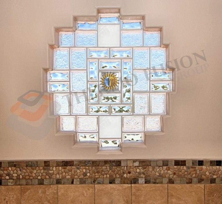 Glass Blocks/Bricks and Walls for home interiors. Different types ...