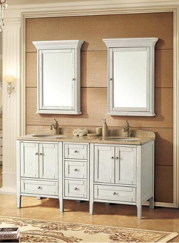 V842 Solid Wood Bathroom Cabinet Wood Bathroom Solid Wood