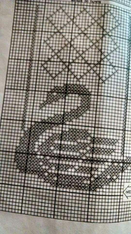 Grafico de trilho de mesa em croche de cisne