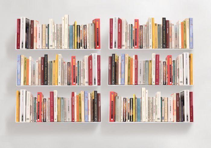 Etagere Pour Livre 60 X 15 Cm Lot De 6 Avec Images Mur De Bibliotheque Etagere Livres Etageres Murales