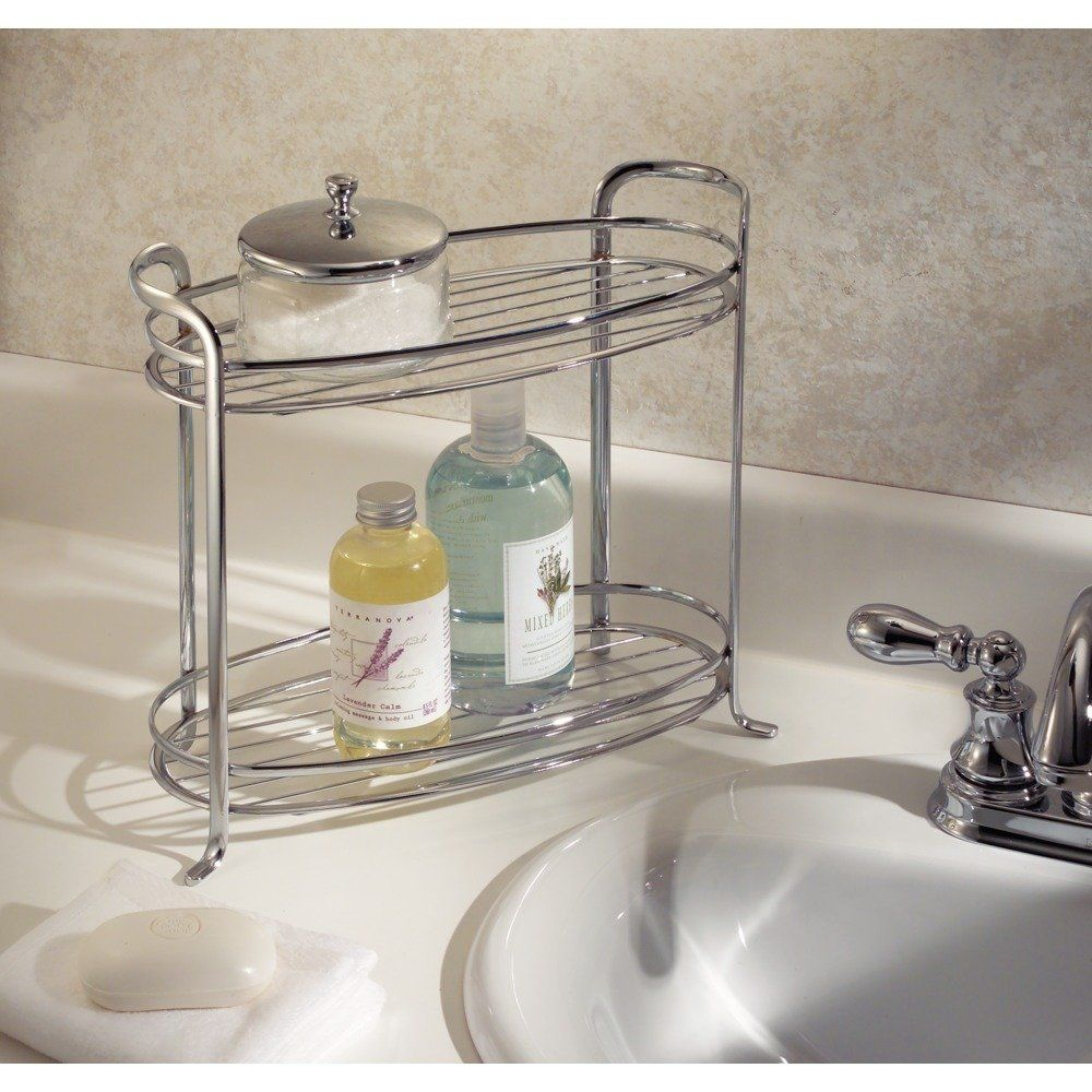 Amazoncom InterDesign Axis Free Standing Bathroom Storage - Candles for bathroom